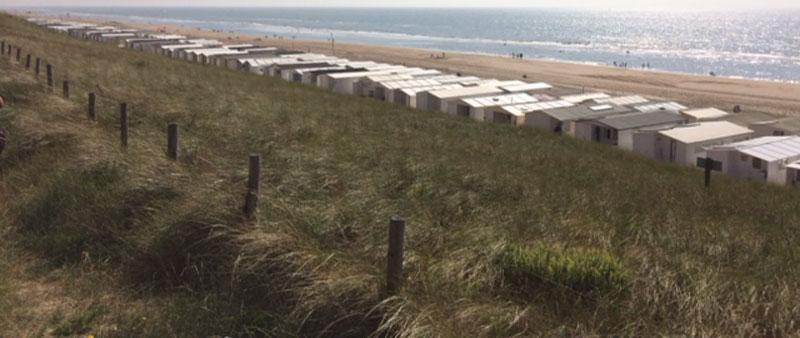 Holiday huts at Zandvoort