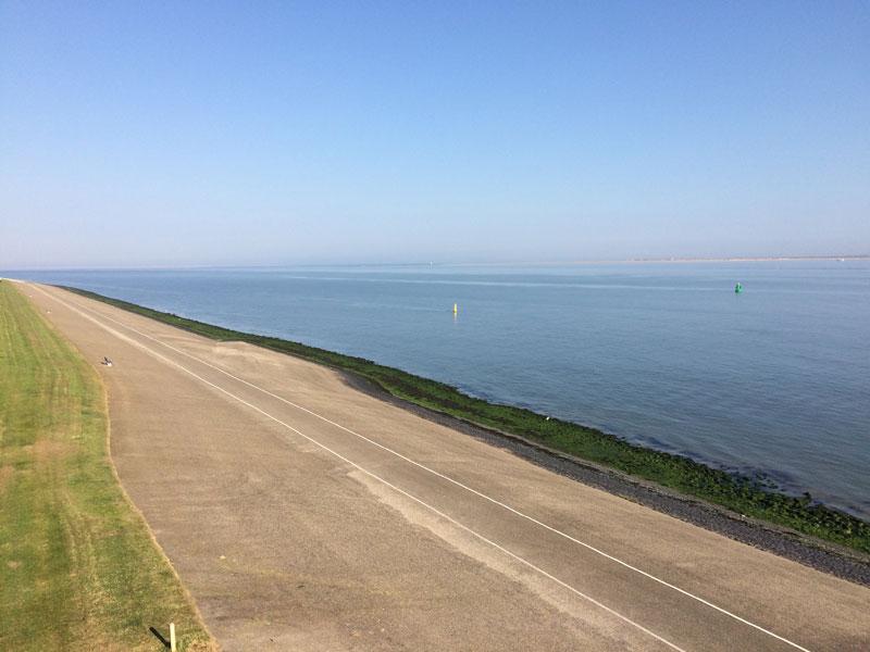 North Sea cycle path near Den Helder