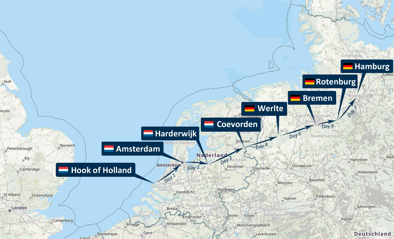 Road to Hamburg cycle tour