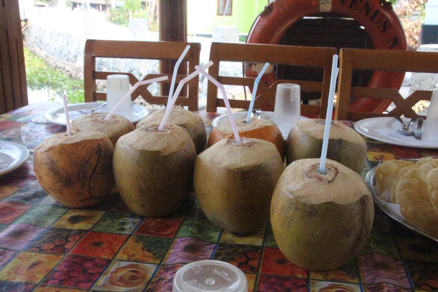 Coconut refreshments in Kerala