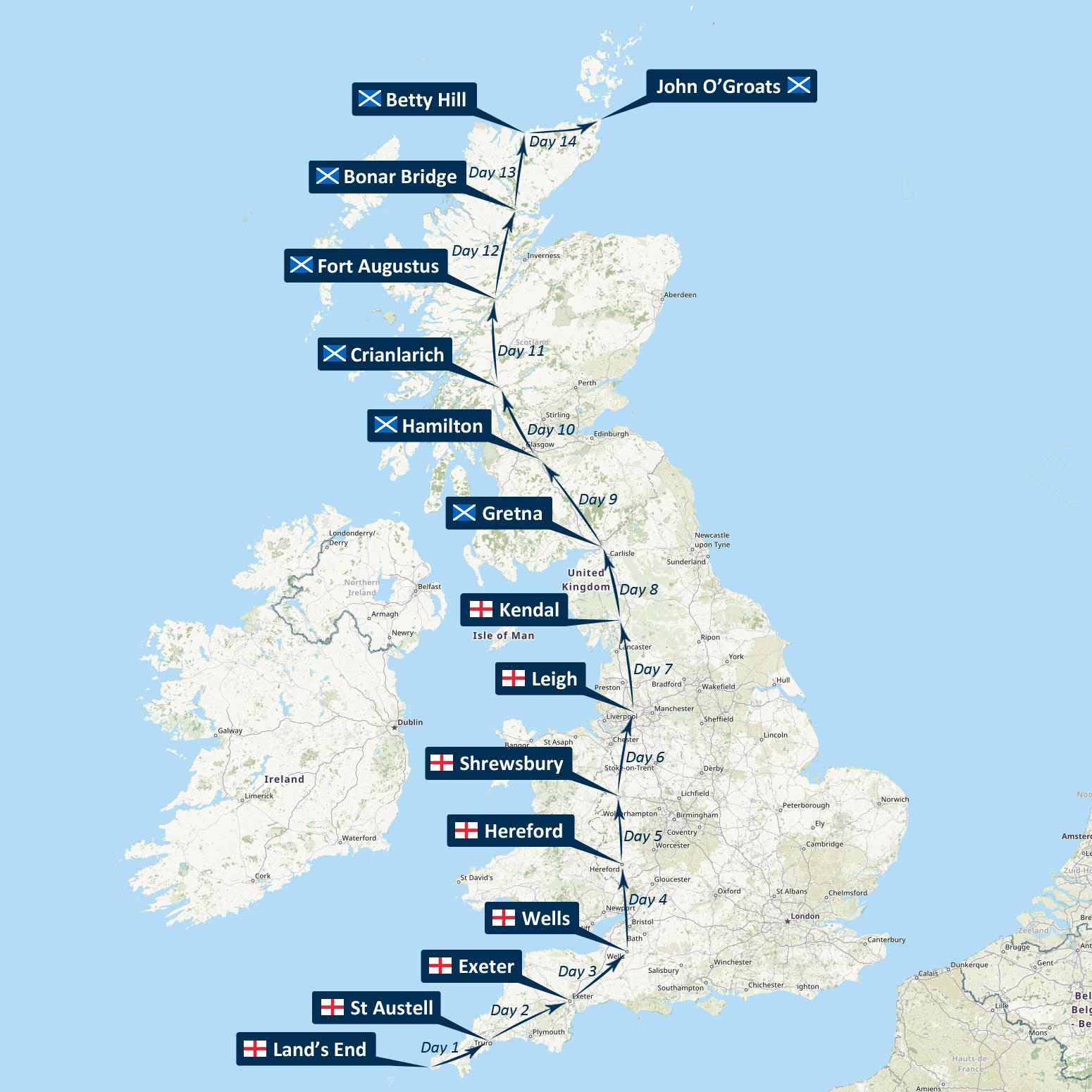 Land's End to John o'Groats Cycle Tour