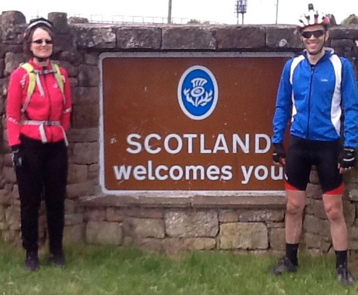 Scotland border
