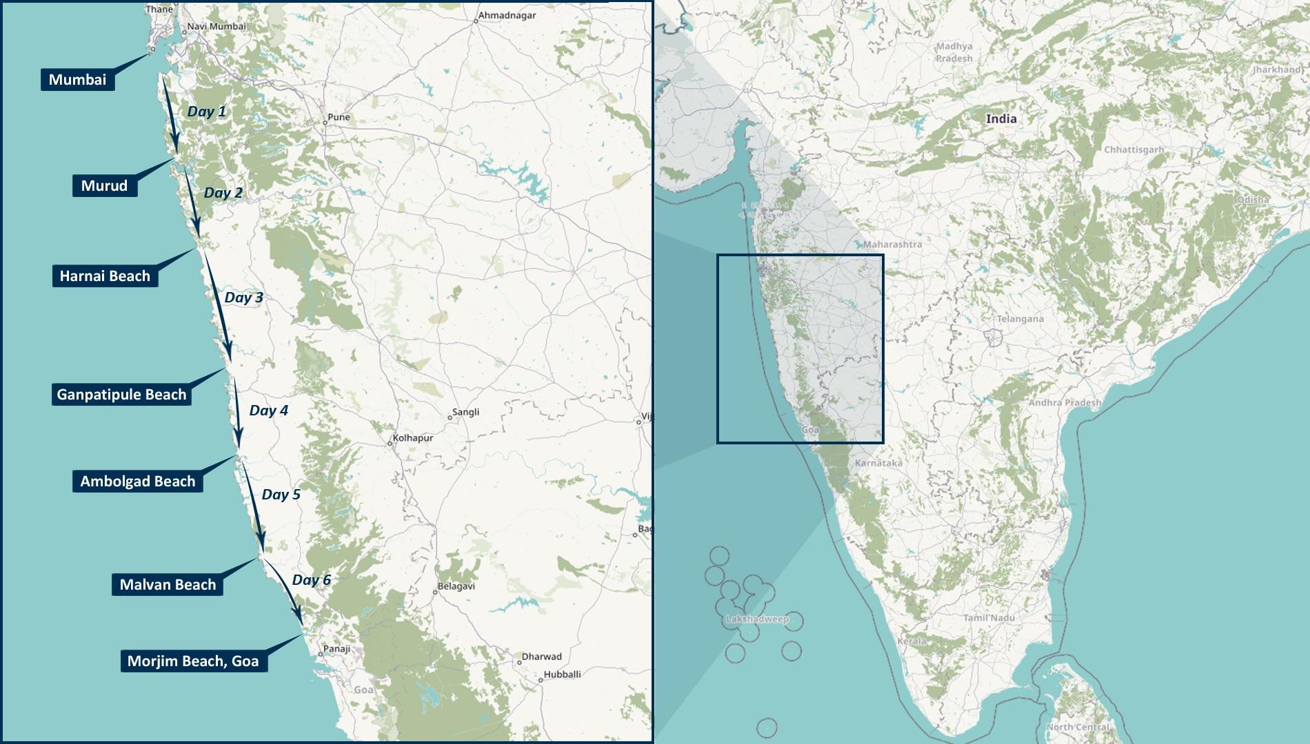 Mumbai to Goa 6-day cycle touring holiday