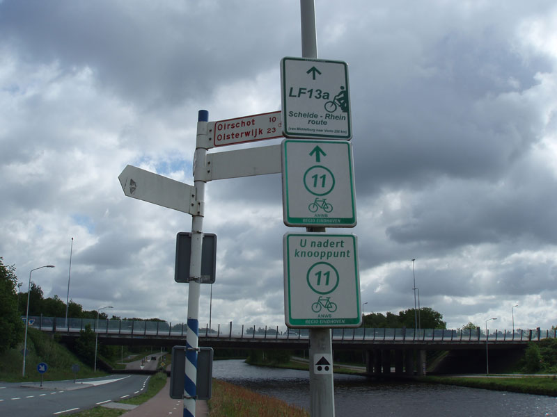 Netherlands cycle route